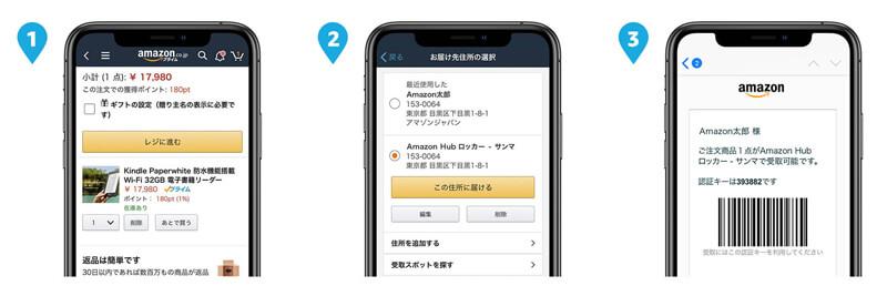 Amazon Hub ロッカーを使う流れ